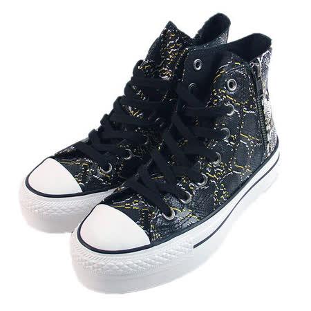 (W系列)CONVERSE Chuck Taylor All Star Side Zip 帆布鞋 蟒蛇紋-542473C