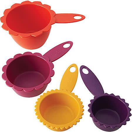 《KitchenCraft》花型四色量杯組