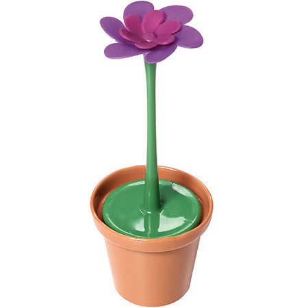 《KitchenCraft》附座紫花盆栽濾茶器