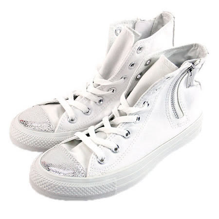 (W系列)CONVERSE Chuck Taylor All Star Side Zip 帆布鞋 白-542618C