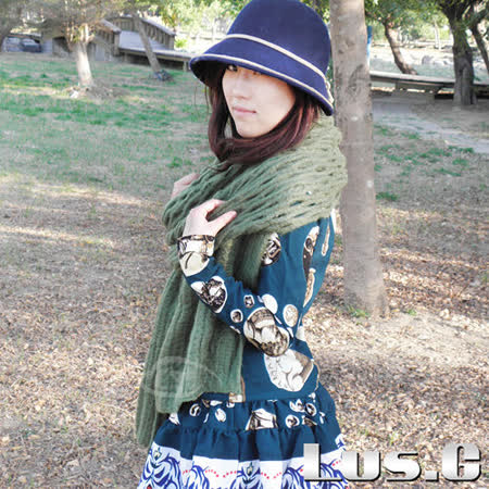 【Lus.G】流行韓系針織厚圍巾