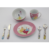 WMF 3歲以上兒童學習專用餐具七件組迪士尼公主版