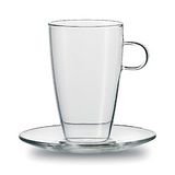 JENAER GLAS Latte Macchiato 咖啡杯含瓷碟2入