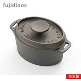日本製《及源鑄造》鑄鐵迷你烤鍋‧12cm橢圓款