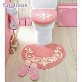 【cecile雜貨】愛心造型浴廁用粉系地墊