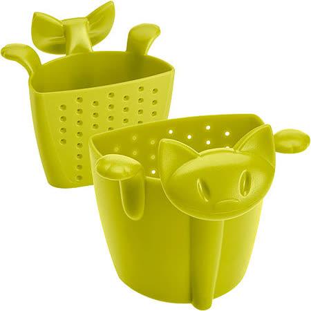 《KOZIOL》慵懶貓掛式濾茶器(綠)