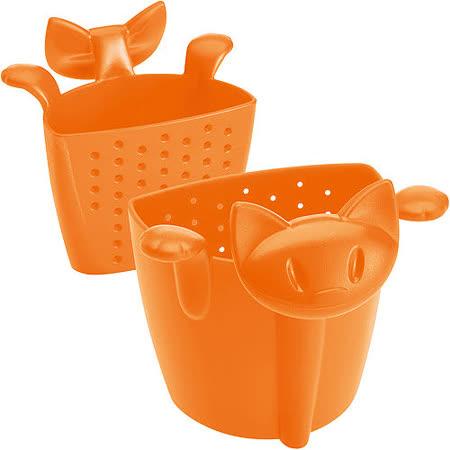《KOZIOL》慵懶貓掛式濾茶器(橘)