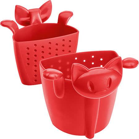 《KOZIOL》慵懶貓掛式濾茶器(紅)