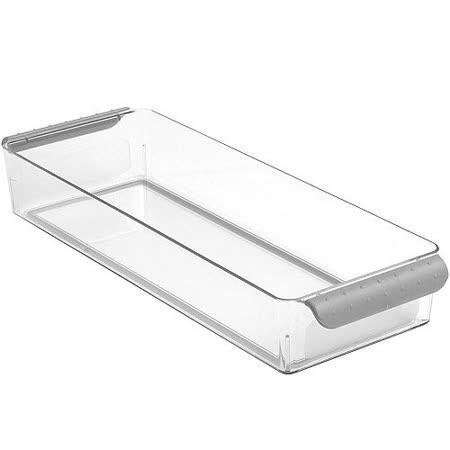 《MADESMART》冰箱收納籃(灰36x12.5cm)