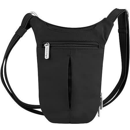 《TRAVELON》防盜薄型側背包 (黑)