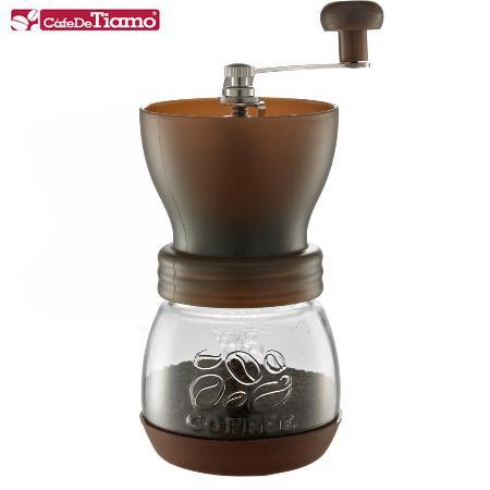 Tiamo 0925密封罐陶瓷磨豆機(咖啡色) HG6149BW