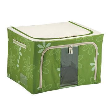 折疊收納箱66L(50*40*33cm)綠
