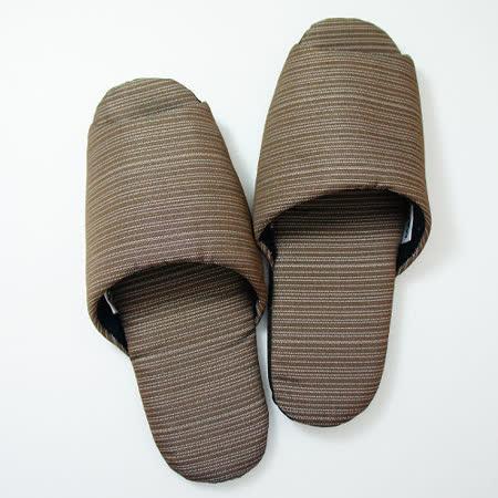 《MORINO摩力諾》日式個性無聲布室內拖鞋-咖啡色