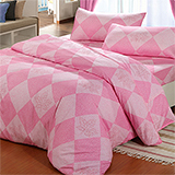 台灣製【楓葉裊裊-紅】雙人六件式天絲絨鋪棉兩用被床罩組