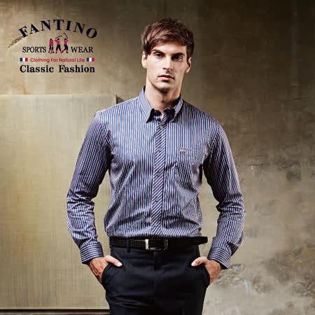 【FANTINO】經典男性線條休閒襯衫 444315