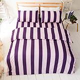 台灣製【弦樂音譜-紫】雙人六件式天絲絨鋪棉兩用被床罩組
