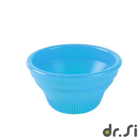 【Dr.Si】寶寶適用矽膠摺疊碗(藍)
