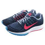 (女)NIKE WMNS NIKE ZOOM STRUCTURE 18 慢跑鞋 黑灰/藍/桃紅-683737001