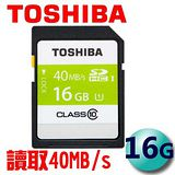TOSHIBA 東芝 16GB 40MB/s SDHC UHS-I C10 記憶卡