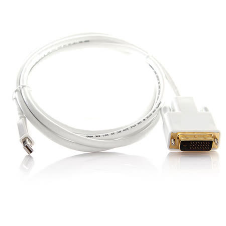 Bravo-u Mini DisplayPort(公)to DVI24+1 Pin(公) 轉換器1.8M_白