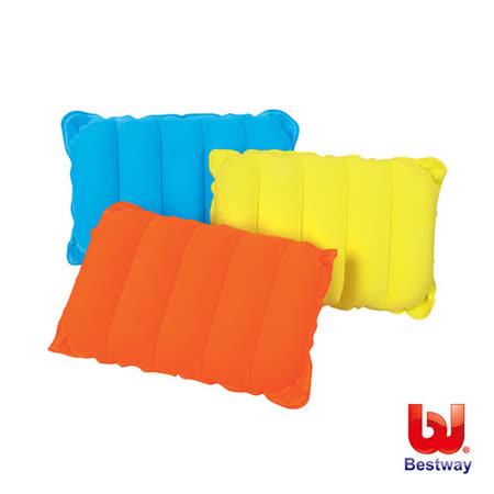 (購物車)《購犀利》Bestway。高級植絨充氣枕-黃、橙、藍(隨機出貨)