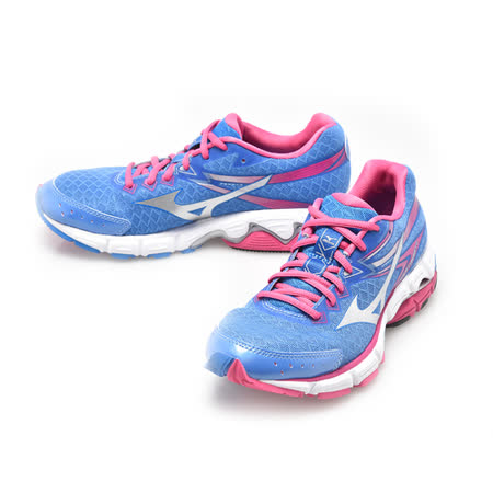 美津濃MIZUNO(女)WAVE CONNECT 2 頂級慢跑鞋-藍桃-J1GD154803