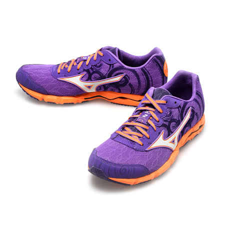 美津濃MIZUNO(女)WAVE HITOGAMI 2路跑鞋-紫-J1GB158004