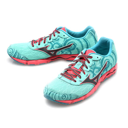 美津濃MIZUNO(女)WAVE HITOGAMI 2頂級慢跑鞋-綠桃紅-J1GB158008