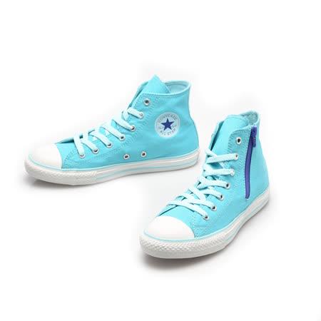 CONVERSE(女)Chuck Taylor 高筒帆布鞋-天空藍-647698C
