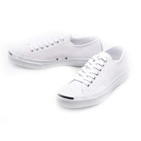 CONVERSE(男/女)開口笑 JACK PURCELL休閒鞋白色荔枝皮革-1S961