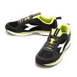 DIADORA(男)時尚透氣運動鞋-黑綠-DA4AMR9670