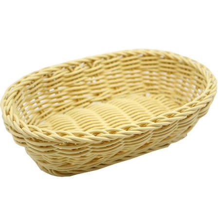 【收納職人】鄉村風收納裝飾編織置物籃PP藤編籃(深型米黃)