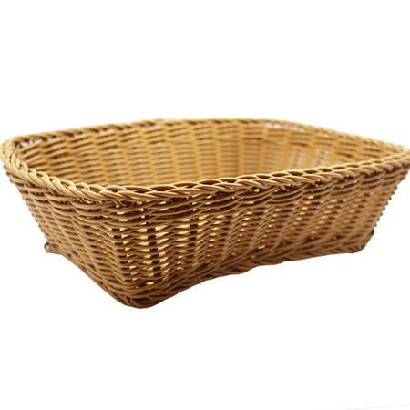 【收納職人】鄉村風收納裝飾編織置物籃PP藤編籃(A4駝色)