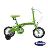 【OYAMA】歐亞馬12吋單速高碳鋼兒童折疊車 海豚S200 (鮮草綠)