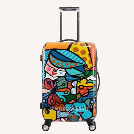 AOU & 美國BRITTO 旅行箱 28吋 TSA海關鎖 時尚潮流連線(公園)97-001A-D4