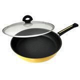 小太陽32cm合金蜂巢式炒煮鍋 BY-3220G