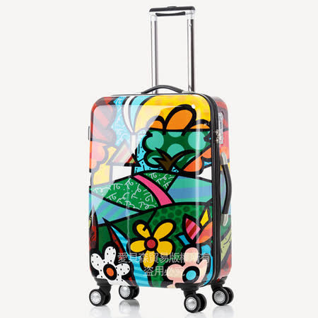 AOU & 美國BRITTO 旅行箱 28吋 TSA海關鎖 時尚潮流連線(花園)97-001A-D5