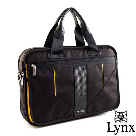 Lynx - 山貓科技概念系列手提斜背式公事包-耶魯黃