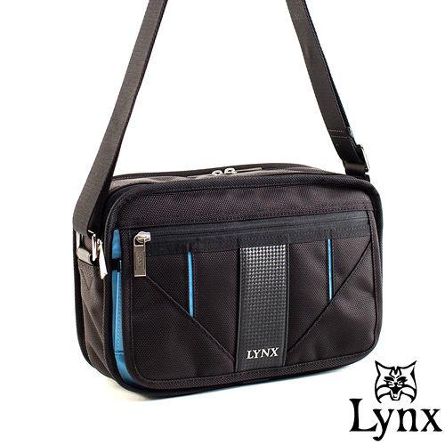 Lynx ~ 山貓科技概念系列精巧橫式側背包~牛津藍