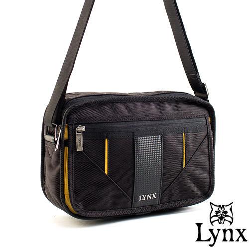 Lynx ~ 山貓科技概念系列精巧橫式側背包~耶魯黃