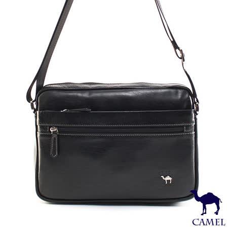 CAMEL - 經典Flair小牛真皮系列橫式平板可放側背包