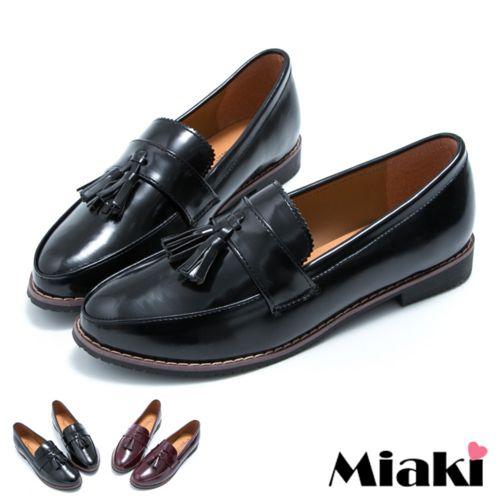 ~Miaki~MIT 低跟包鞋 都會 平底鞋 ^(黑色 酒紅^)