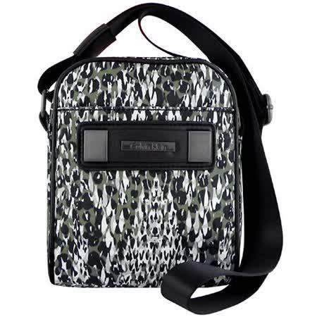 Calvin Klein 綠色豹紋圖樣斜背包