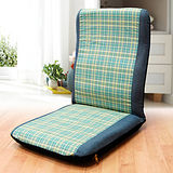 KOTAS 格子紋 高背和室椅(綠)