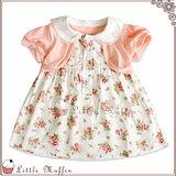 千趣會 假兩件鄉村風玫瑰娃娃領小洋裝 純棉 SUM193