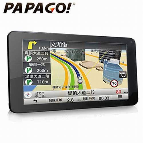 PAPAGO! GoPad 7超清晰W目擊者行車影像記錄器i-Fi 聲控導航平板