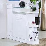 【幸福屋】 約特3.6尺白色隔間鞋櫃