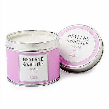 【H&W英倫薇朵】盛夏玫瑰香氛燭罐 180g