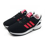 (女)ADIDAS ZX FLUX W 休閒鞋 黑/螢光橘紅-B34057