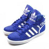 (女)ADIDAS EXTABALL W 休閒鞋 藍/白-M19464